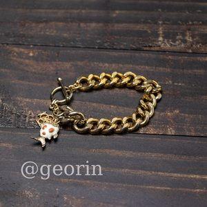 Ann Taylor Toggle Gold Link Bracelet